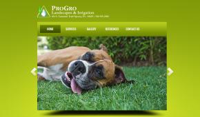 website design pro gro landscapes